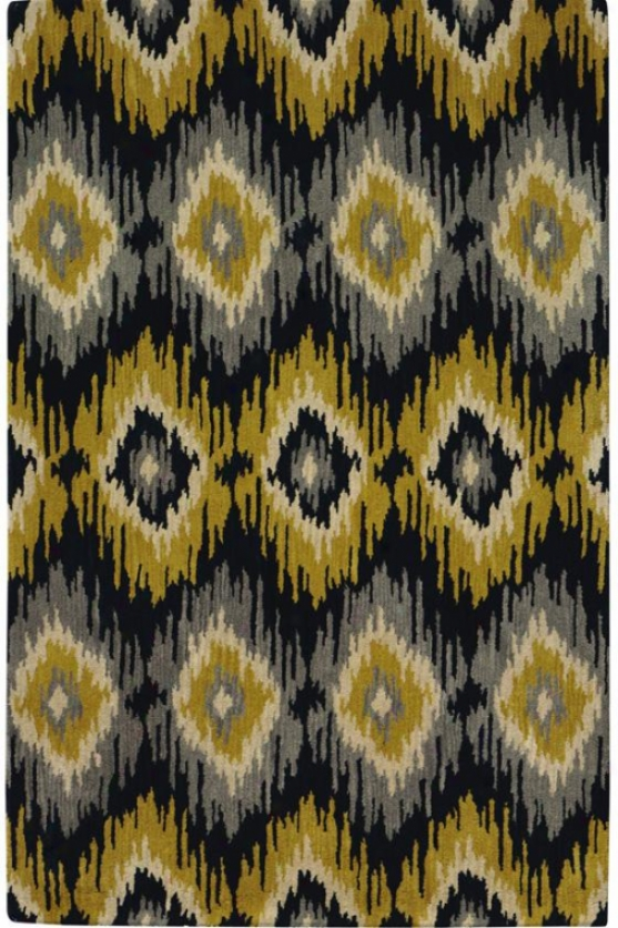 """diamond Ikat Area Rug - 3'6""""x5'6"""", Yellow/gray"""