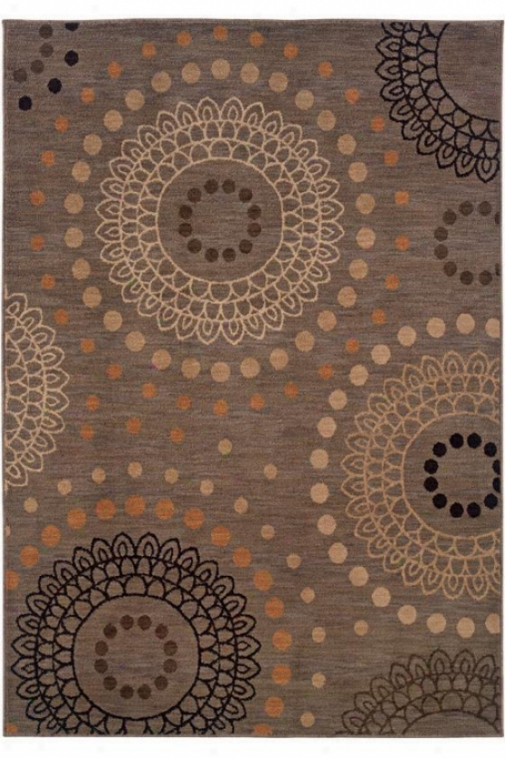 """dizzy Area Rug - 9'10""""x12'9"""", Gray"""