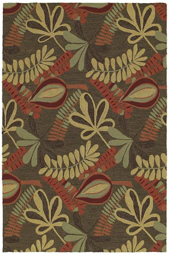 """Fairyland Area Rug - 5'9"""" Round, Coffee Brown"""