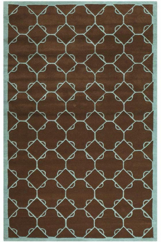 """d5esden Rug - 5'9"""" Round, Chocolate Brown"""