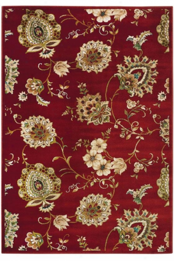 """dunwoody Area Rug - 7'8""""x10'10"""", Red"""