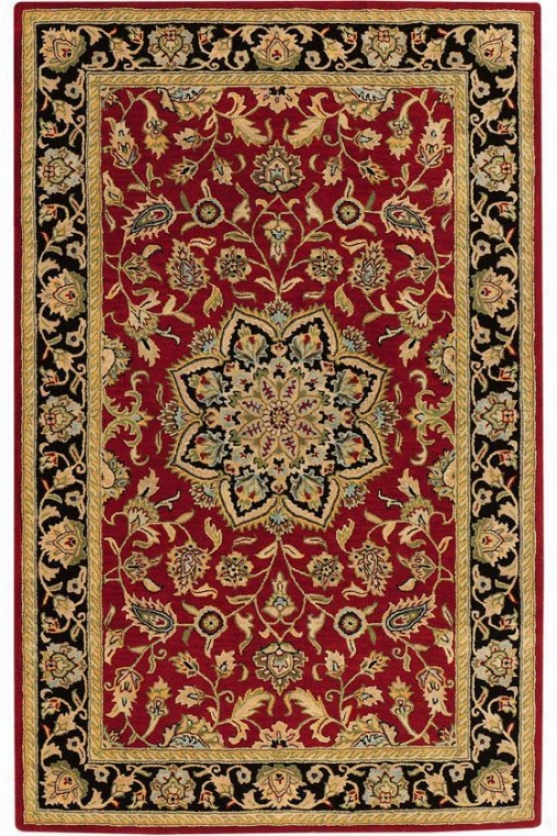 """earley Area Rug - 2'3""""x11'6"""" Rnhr, Red"""