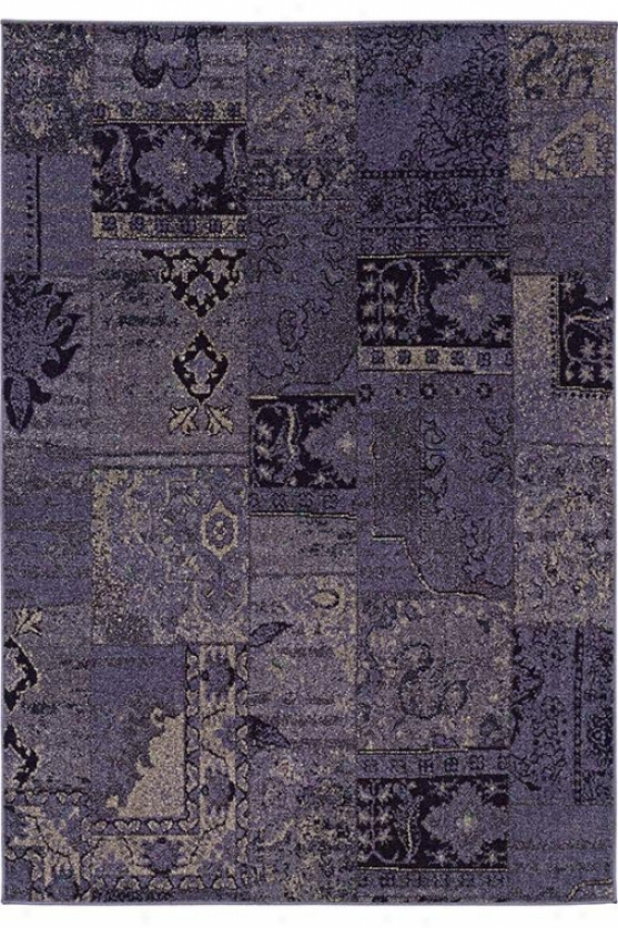 """elation Region Rug Ii - 1'10""""x3'3"""", Purple"""