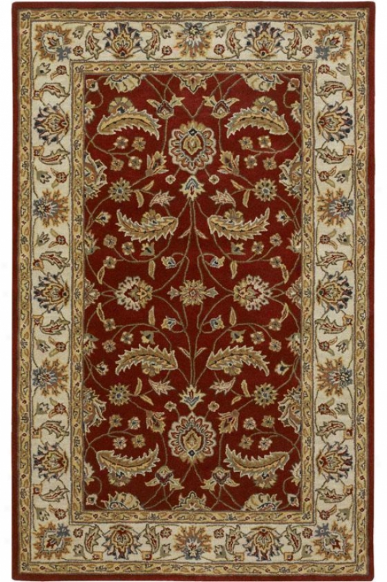 Eleanor Superficial contents Rug - 8'x11', Red