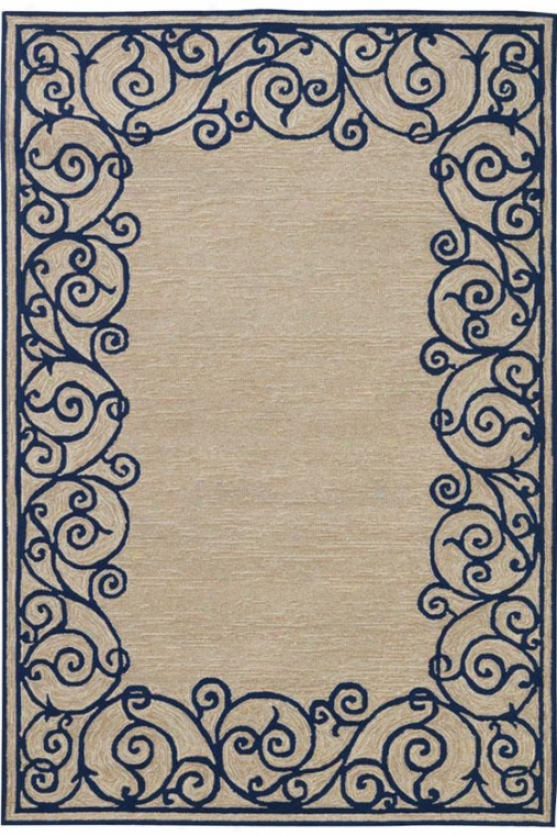 """estate Border Area Rug - 7'6""""x9'5"""", Blue"""