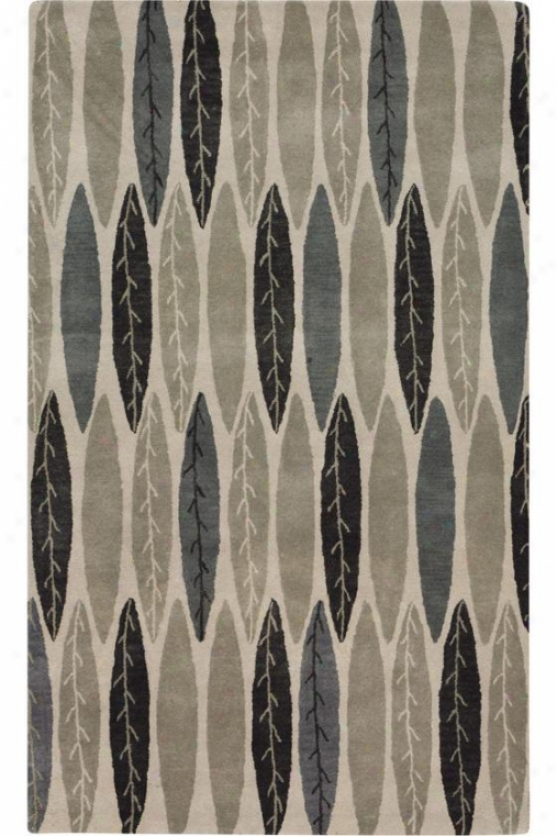 """feather Area Rug - 9'6""""x13'6, Gray"""