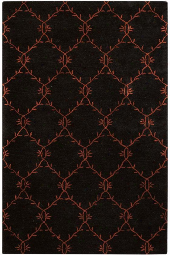 """filigree Rug I - 2'6""""x4'6"""", Charcoal"""