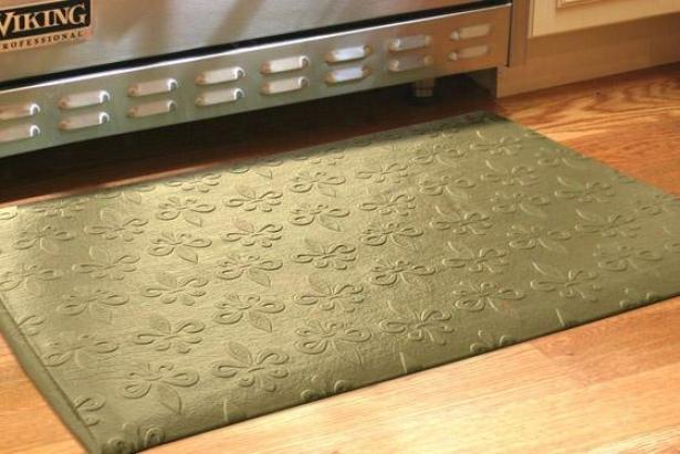 Fleur Field Floor Mat - 2'x3', Olive