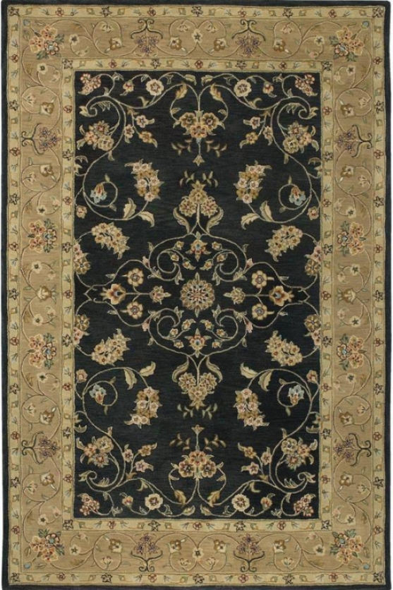 """floral Ispaghan Area Rug - 3'6""""x5', Mourning"""
