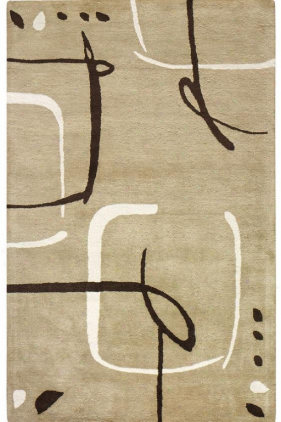 """fragment Superficial contents Rug - 5'3""""x8', Dark Sand"""