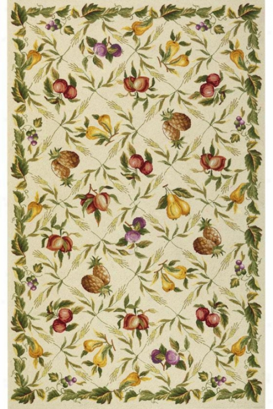 Fruit Garden Area Wool Rug