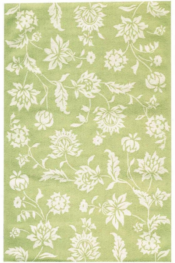 """garden Vines I Rug - 2'6""""x10' Runner, Green"""