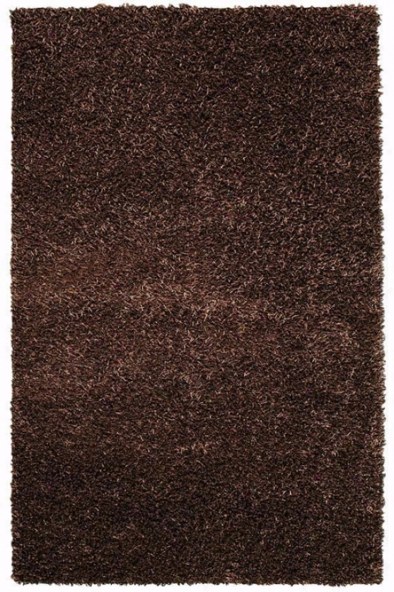 """glitzy Area Rug - 3'6""""x5'6"""", Brown"""