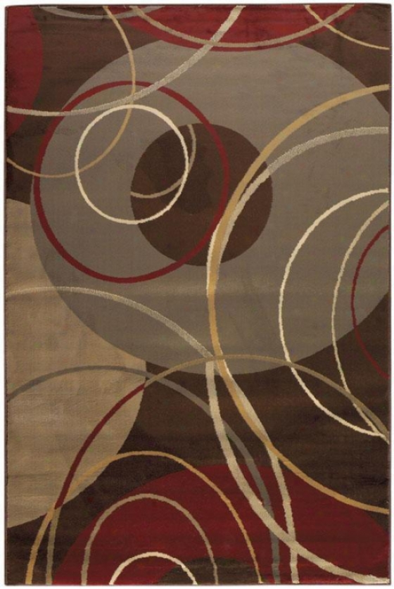 """gyro Area Rug - 5'x7'6"""", Brown"""