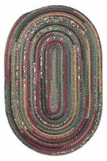 Hearth Braided Area Rug - 2'x7' Runner, Olive