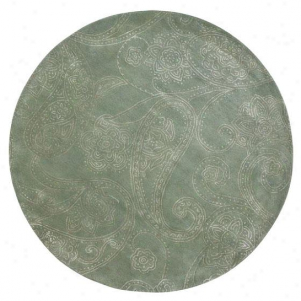 """highlands Rug - 5'5"""" Round, Sage"""