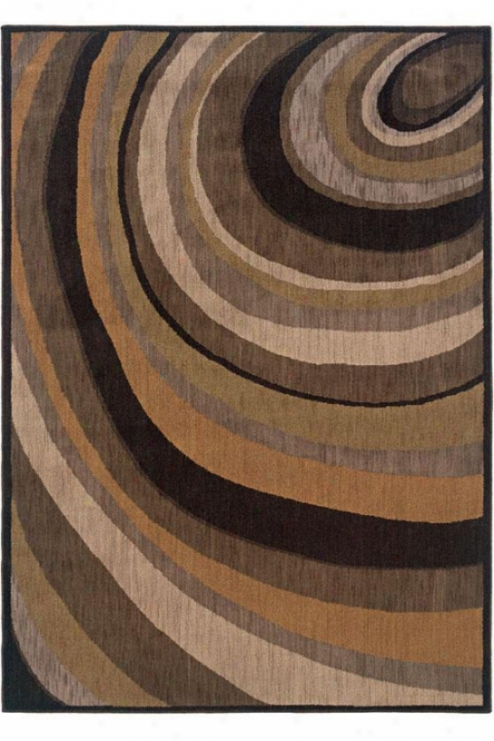 """hoop Area Rug - 1'11""""x3'3"""", Brown"""