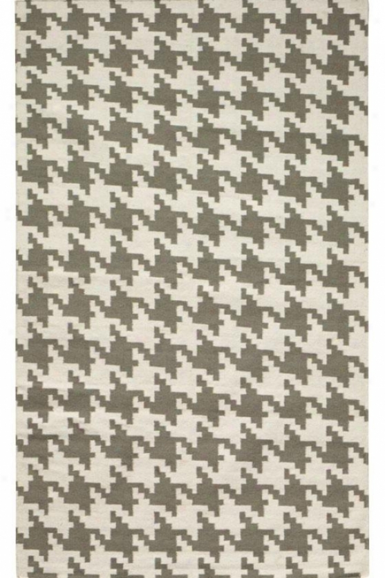 Houndstooth Area Rug - 5'x8', Gray