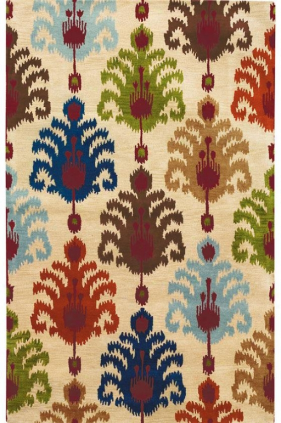"""ikat Area Rug - 3'6""""x5'6"""", Multi"""