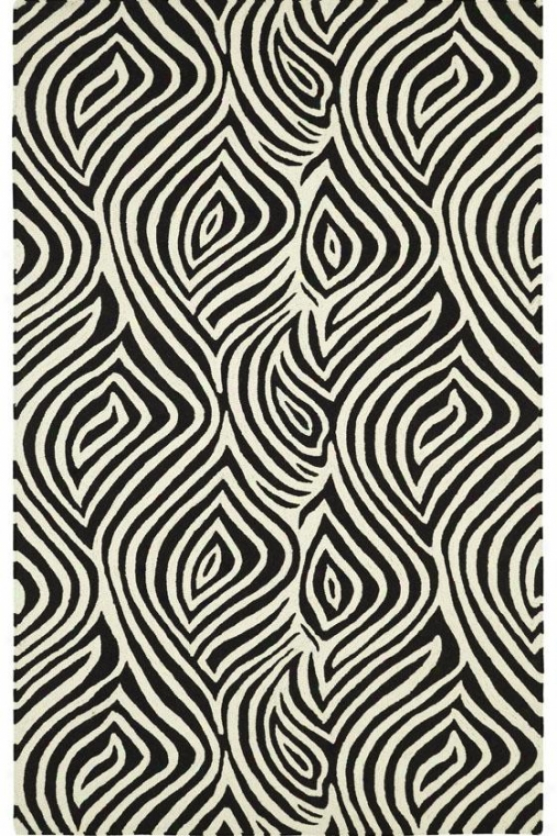 Illusion Iii Area Rug - 5x8, Ivory-black