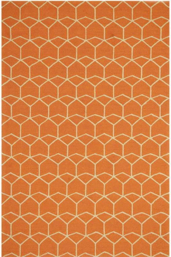 """impulse Region Rug - 5'x7'6"""", Red Orange"""