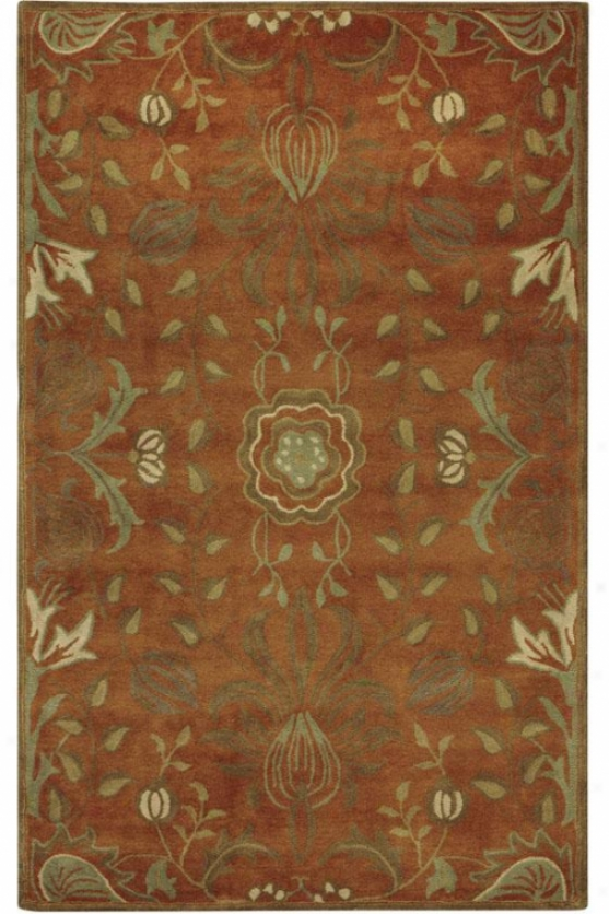 """Divine influence  Area Rug - 7'9"""" Round, Pumpkn"""