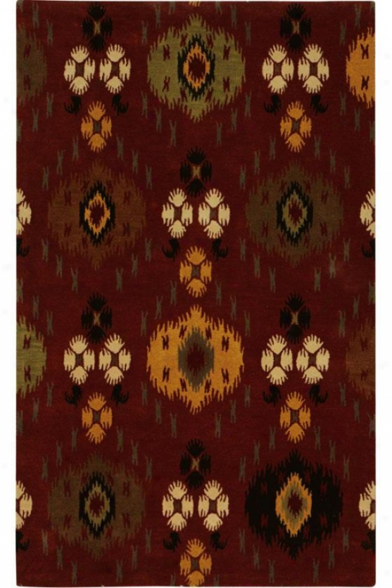 """jewel Area Rug - 2'6""""x8' Runner, Brick Red"""