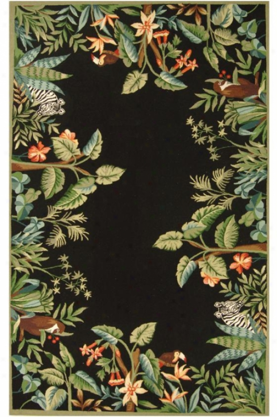 """Thicket Area Rug I - 4'6""""x6'6"""" Oval, Black"""