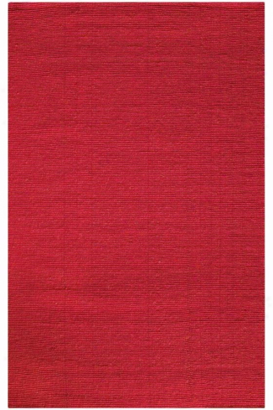 Kampur Coir Area Rug - 3'x5', Crimson Red