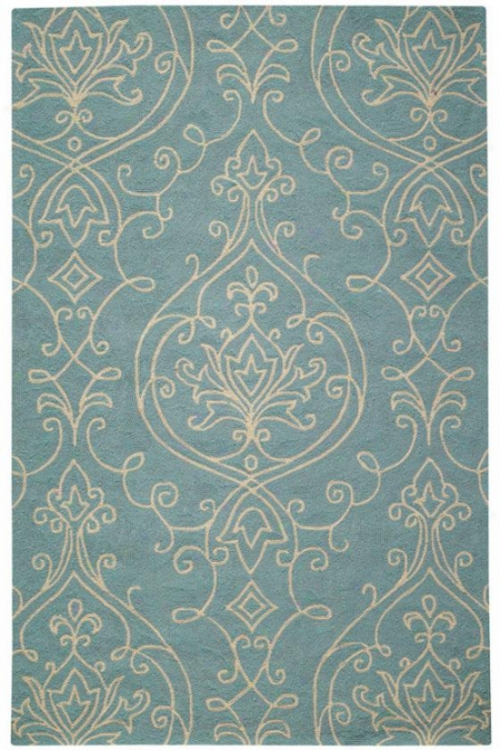 Kenilworth Indoor All-weather Outdoor Patio Hooked Area Rug - 5'x8', Blue