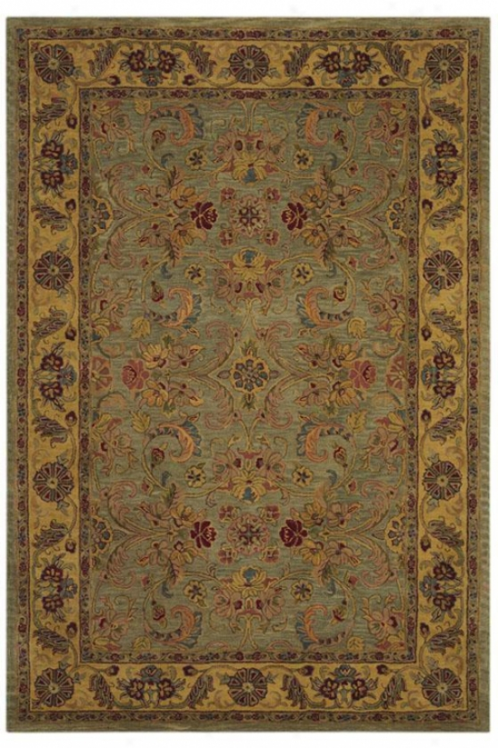 Kerman Vi Area Rug - 6'x9', Green