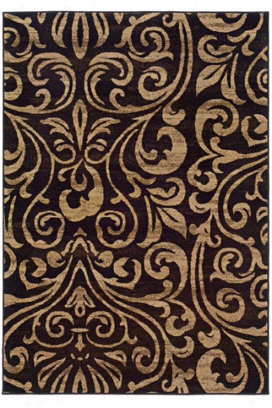 """kiteley Area Rug - 6'7""""x9'6"""", Black"""