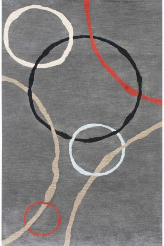 Knot Area Rug - 5'x8', Gray