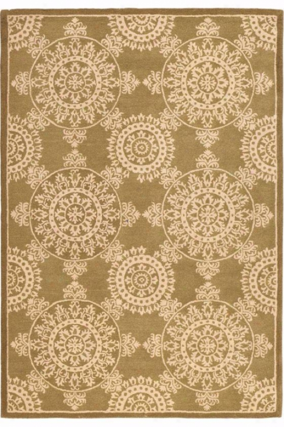 """lace Area Rug - 3'6""""x5'6"""", Green"""