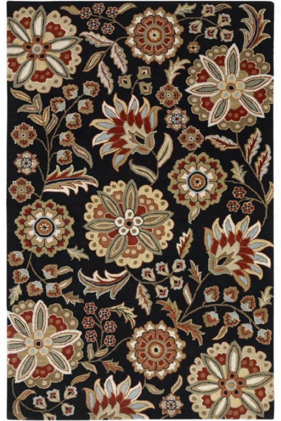 Lainey Area Rug Ii - 6' Square, Black