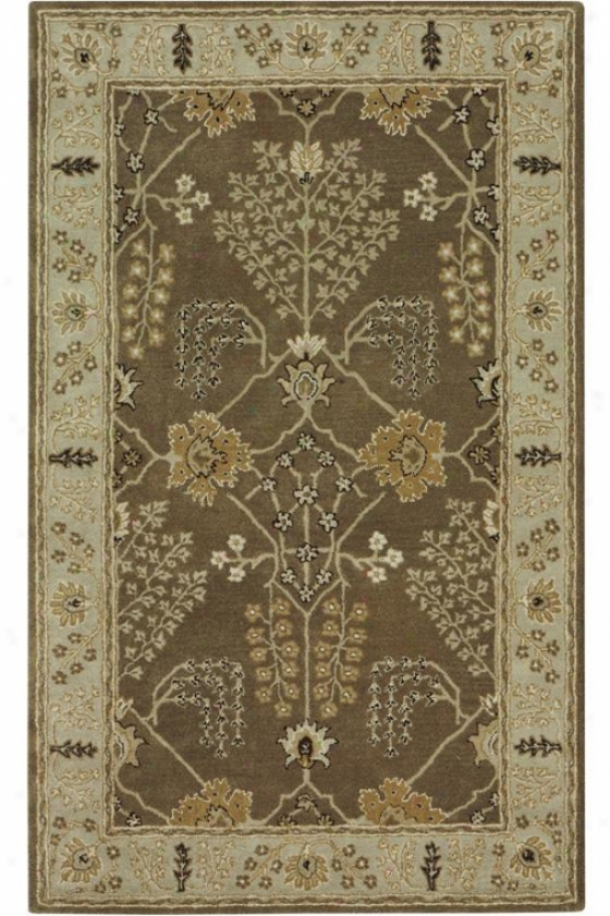 """leeds Area Rug - 5'3""""x8'3"""", Brown"""