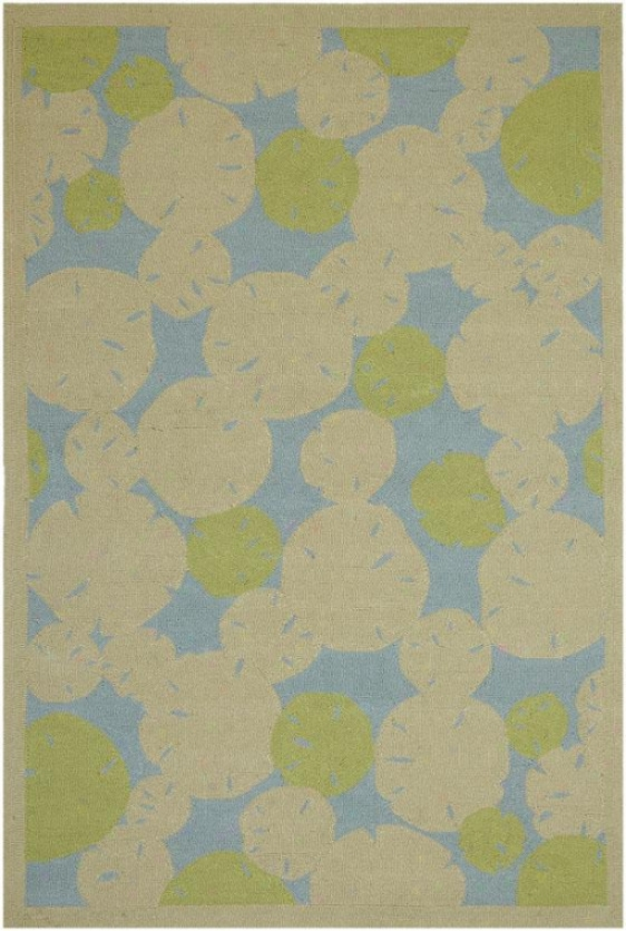 """lily Pad Area Rug - 7'6""""x9'6"""", Beige"""