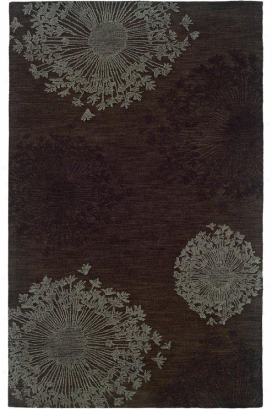 Lily's Lace Region Rug - 2'6 X 8, Brown
