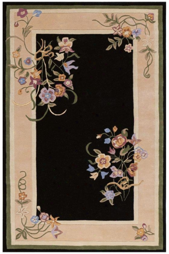 """loriana Area Rug - 2'9""""x14' Runner, Black"""