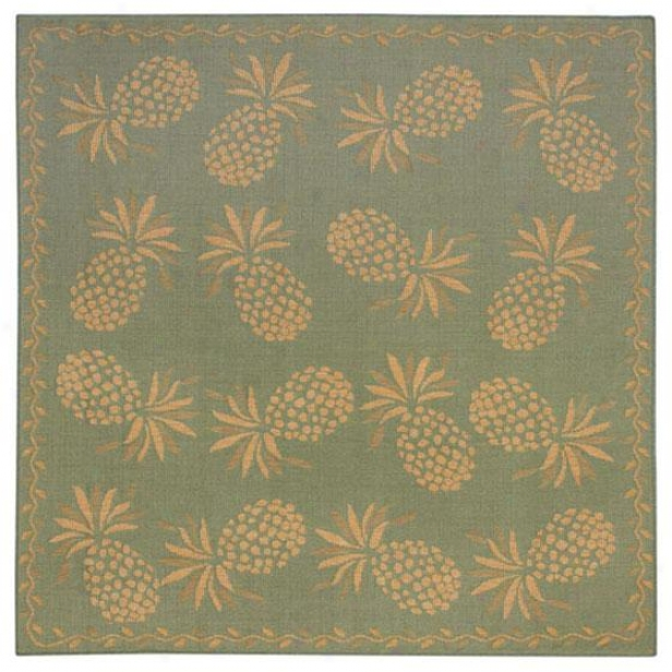 """luau All-weather Area Rug - 7'10"""" Square, Aqua Azure"""