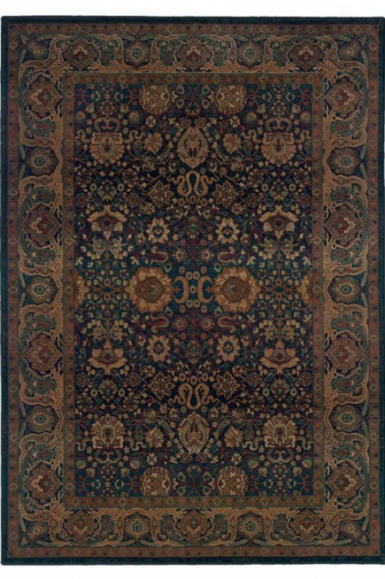"""lyrics Area Rug - 6'7""""x9'1"""", Navy Blue"""