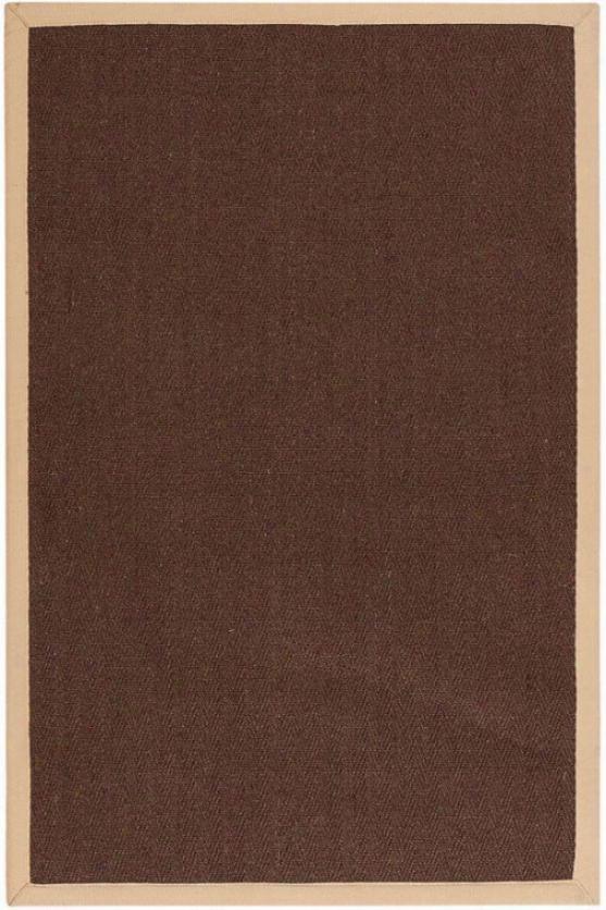 Marblehead Sisal Yard Rug - 4'x6', Chocolate Brown