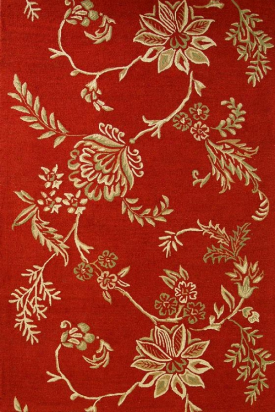 Marco Ii Yard Rug - 8x11, Red
