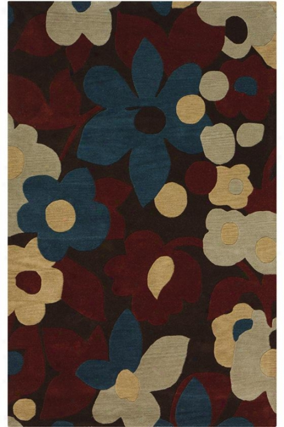 """margot Area Rug - 5'9"""" Round, Brown"""