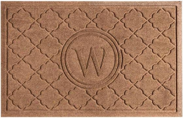 """marrakesh Monogram Doormat - 21.5""""x31.5"""", Brown"""