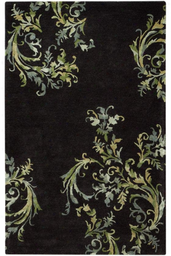 Medici I Area Rug - 10'x13', Black