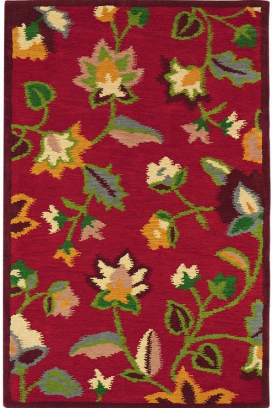 Miranda Area Rug - 8'x11', Red