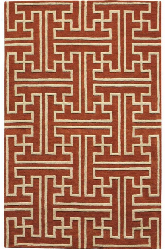 """montaigne Collection Maze Superficial contents Rug - 3'6""""x5'6"""", Coral"""