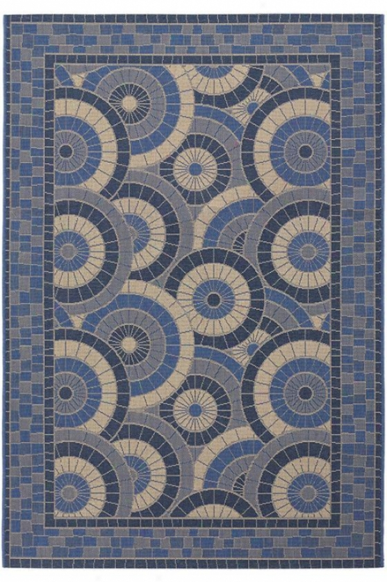 """multiplicity Area Rug - 2'x3'7"""", Cream-blue"""