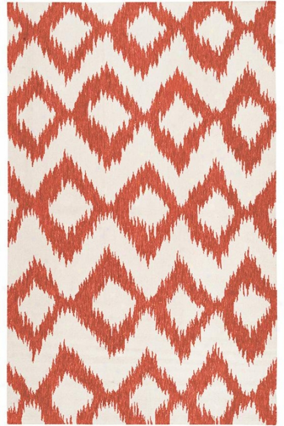 Mystic Wool Area Rug - 8'x11', Red